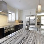 marble counter with stainless steel sink in Guelph, Elora, and Fergus